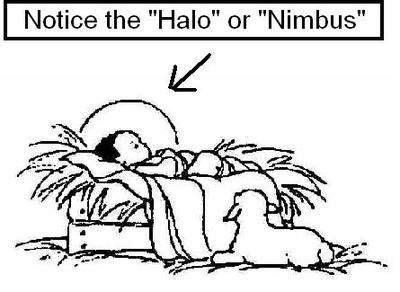 HALO BABY JESUS NIMBUS SUN GOD